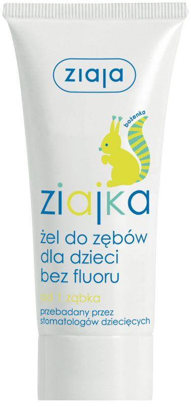 dětská zubní pasta /gel/ bez fluoru 50 ml Ziaja
