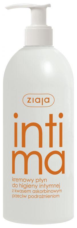 intimní hygiena s kyselinou askorbovou proti podráždění Ziaja