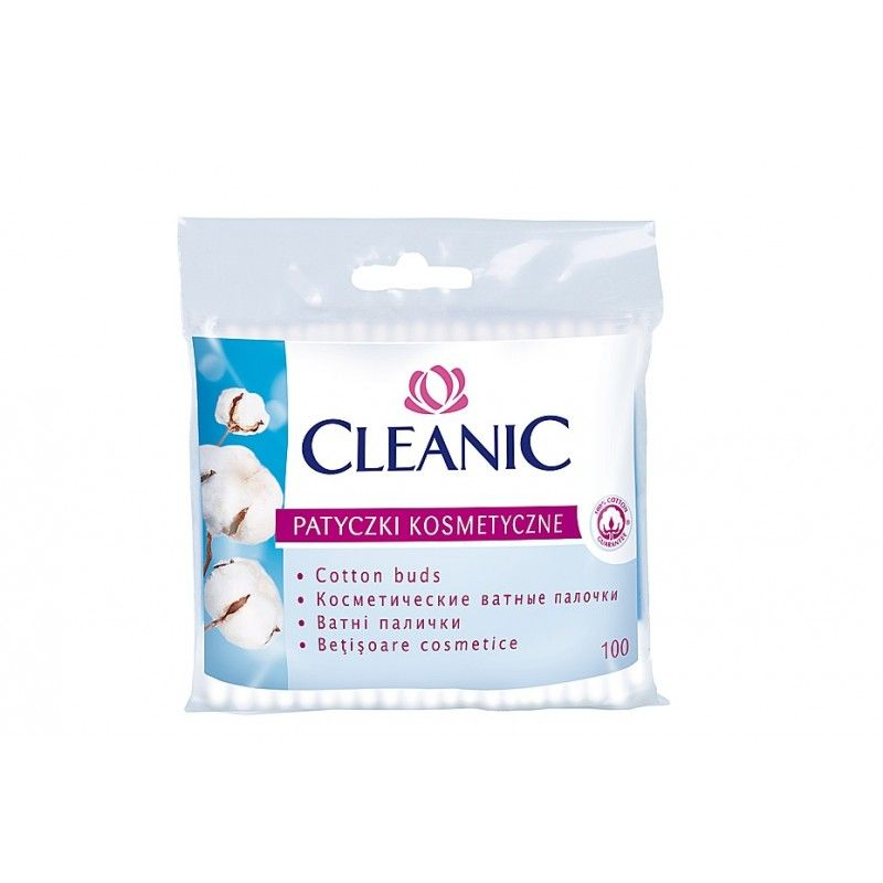 cleanic vatové tyčinky pro osobní hygienu 100 ks - fólie