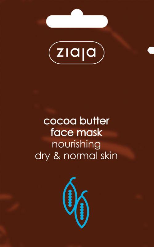 vyživující pleťová maska s kakaovým máslem 7 ml Ziaja