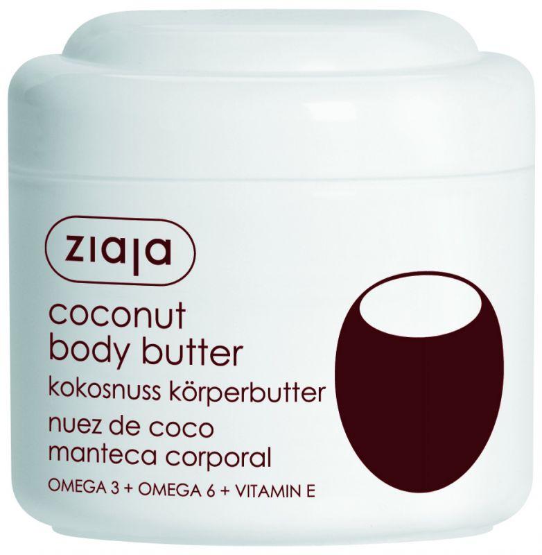 kokosové tělové máslo 200 ml + sprchový gel 500 ml zdarma Ziaja