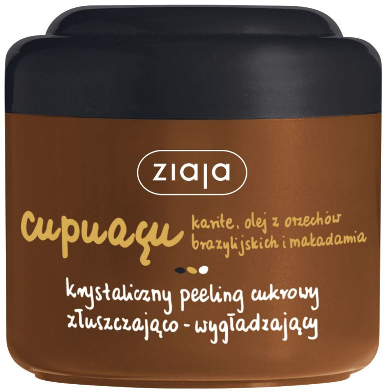 cupuacu sprchový cukrový peeling 200 ml + krém na den i noc 50 ml zdarma Ziaja