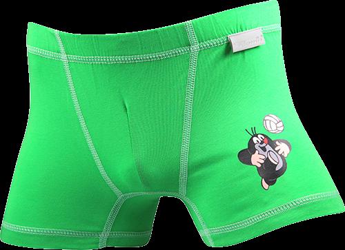 Chlapecké boxerky kr 003 n zelená velikost 122-128, 1kus