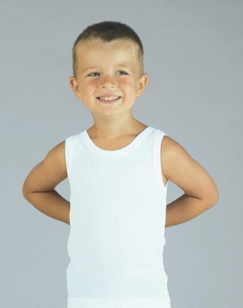 Chlapecký nátělník janko bílá velikost 164, 1kus