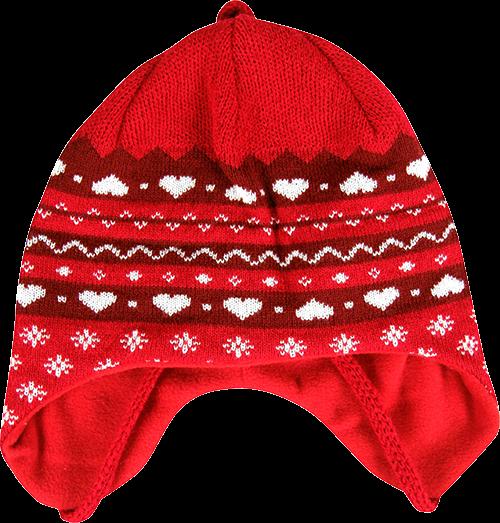 Dětská čepice captiva červená velikost 3-6 let, 1kus
