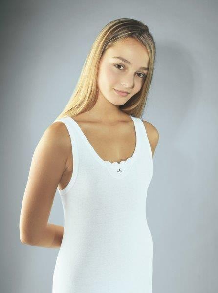 Dívčí košilka julka bílá velikost 164, 1kus