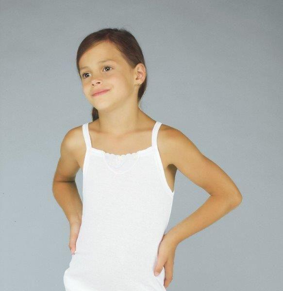 Dívčí košilka lusy bílá velikost 140, 1kus