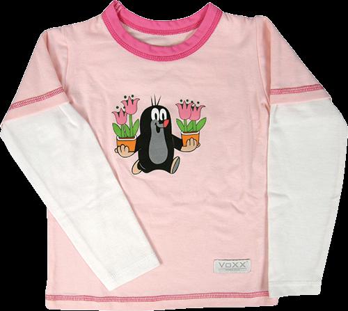 Funkční tričko kr 769 dlouhý rukáv růžová velikost 122-128, 1kus