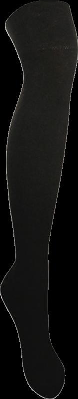 Nadkolenky jednobarevná černá velikost 26-28 (39-42), 1pár
