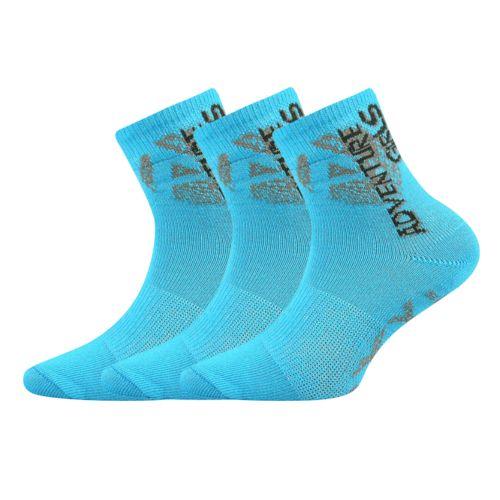 Ponožky adventurik tyrkysová velikost 23-25 (35-38), 3páry
