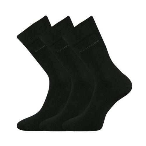 Ponožky comfort černá velikost 32-34 (48-51), 3páry