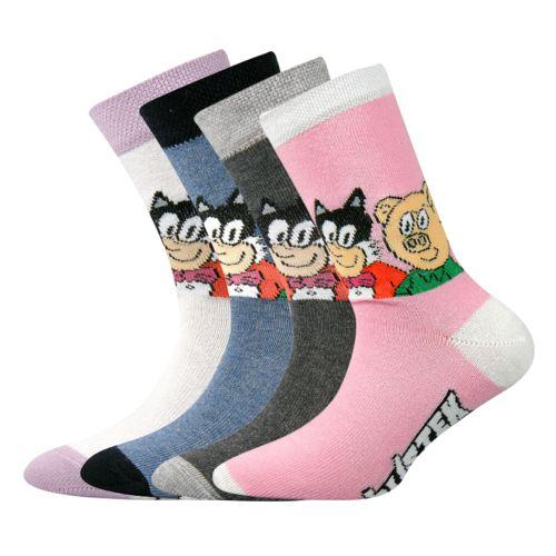 Ponožky ct 001 mix C velikost 23-25 (35-38), 4páry