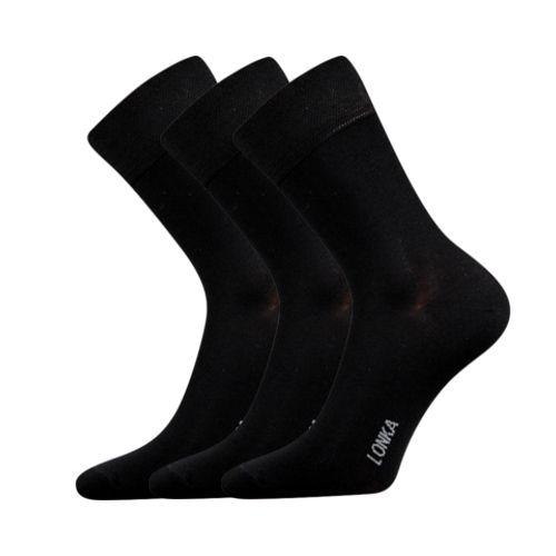Ponožky debob černá velikost 29-31 (43-46), 3páry