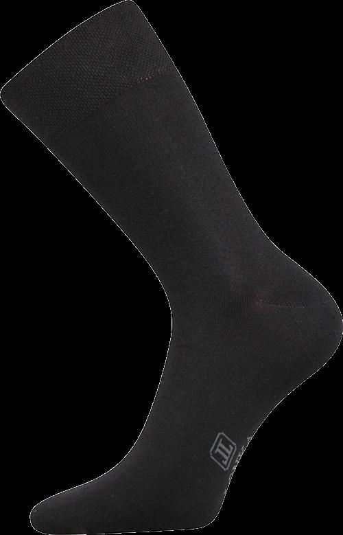 Ponožky decolor černá velikost 29-31 (43-46), 1pár
