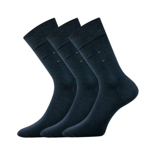 Ponožky dino tmavě modrá II velikost 29-31 (43-46), 3páry