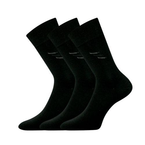 Ponožky dropan černá II velikost 29-31 (43-46), 3páry