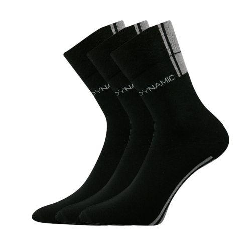 Ponožky dynamic a černá velikost 23-25 (35-38), 3páry