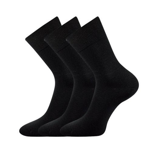 Ponožky fany černá velikost 25-26 (38-39), 3páry