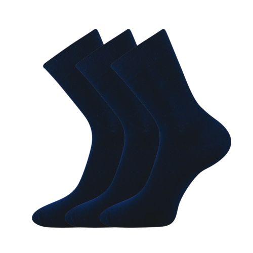 Ponožky flautana tmavě modrá velikost 26-28 (39-42), 3páry