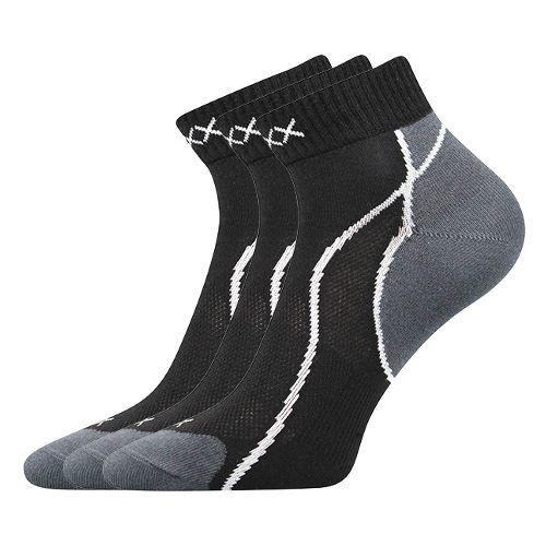 Ponožky grand černá velikost 29-31 (43-46), 3páry