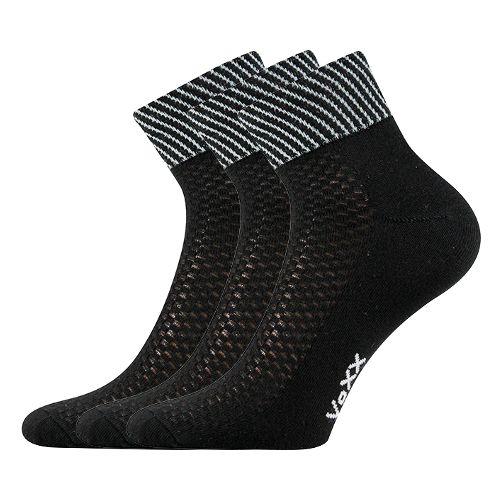 Ponožky jolana černá velikost 26-28 (39-42), 3páry