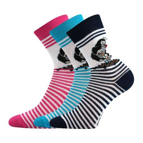 Ponožky krtek mix E velikost 23-25 (35-38), 3páry