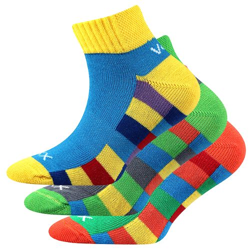 Ponožky kvadrik mix B - kluk velikost 23-25 (35-38), 3páry