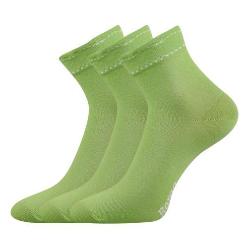 Ponožky květa zelená velikost 26-28 (39-42), 3páry