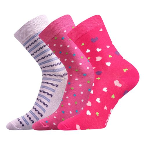 Ponožky lari mix B - holka velikost 26-28 (39-42), 3páry