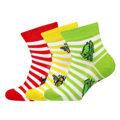 Ponožky pavlínka mix B velikost 23-25 (35-38), 3páry