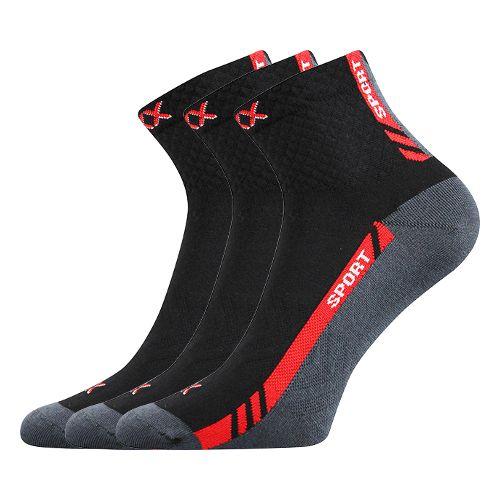 Ponožky pius černá velikost 32-34 (48-51), 3páry