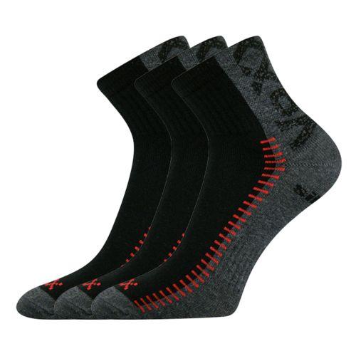 Ponožky revolt černá velikost 32-34 (48-51), 3páry