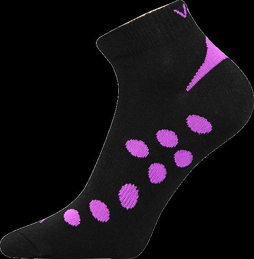Ponožky rex 07 černo-fialová velikost 26-28 (39-42), 1pár