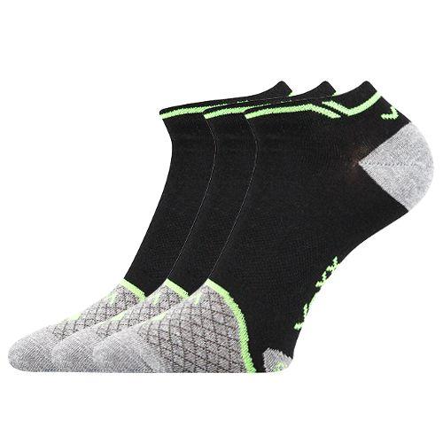 Ponožky rex 08 černá velikost 32-34 (48-51), 3páry