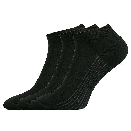 Ponožky rony černá velikost 29-31 (43-46), 3páry
