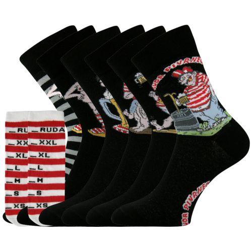 Ponožky ruda pivrnec mix velikost unisex, 6párů