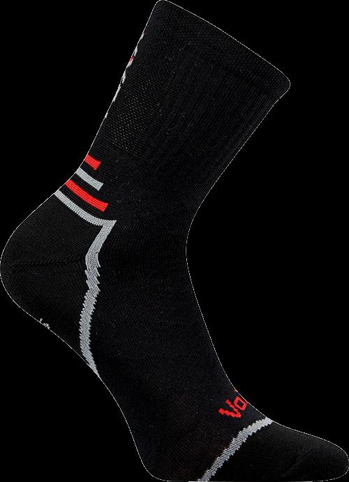 Ponožky vertigo černá velikost 29-31 (43-46), 1pár
