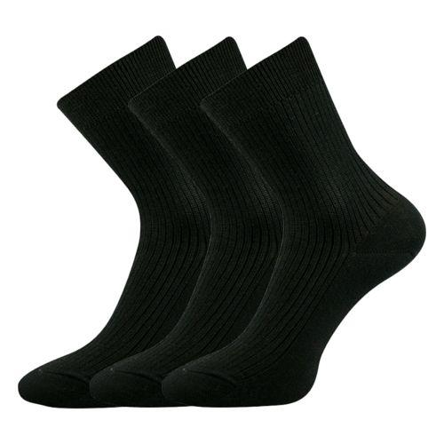 Ponožky viktorka černá velikost 25-26 (38-39), 3páry