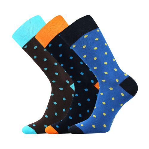 Ponožky wearel 001 malé puntíky velikost 29-31 (43-46), 3páry