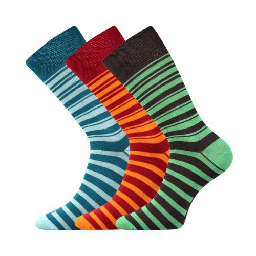 Ponožky wearel 009 pruhy velikost 29-31 (43-46), 3páry