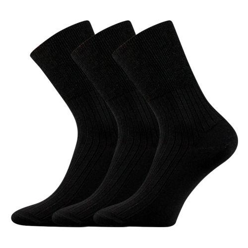 Ponožky zdrav. černá velikost 33-34 (49-51), 3páry