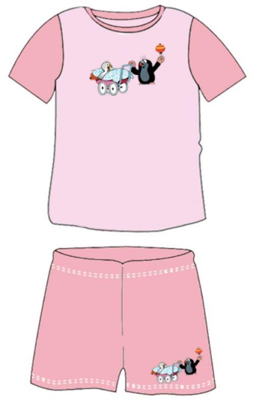 Dětské pyžamo kr 012 krátké růžová velikost 110-116, 1kus
