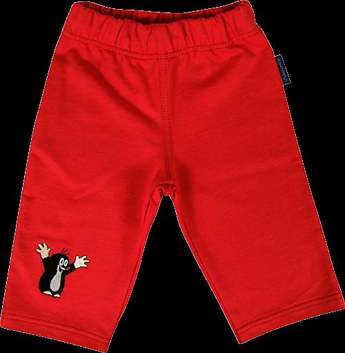 Dětské tepláky kr 699 červená velikost 122-128, 1kus