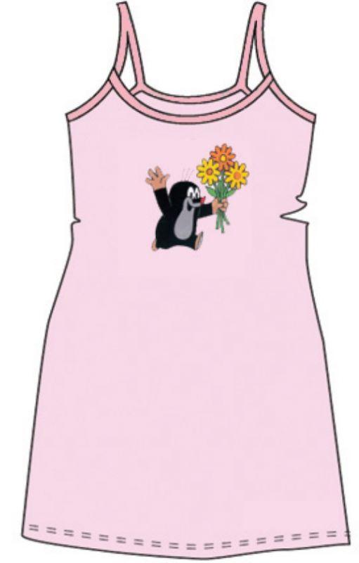 Dívčí košile kr 010 úzká ramínka růžová velikost 110-116, 1kus