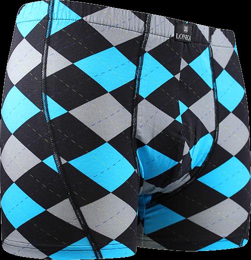 Pánské boxerky kevin vzor vzor G - káro modrá velikost XXL, 1kus
