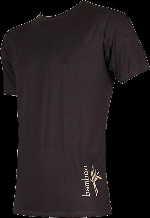 Pánské tričko bambus černá velikost XXL, 1kus
