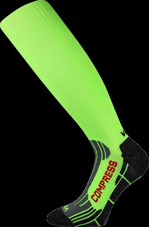 Podkolenky flex neon zelená velikost 29-31 (43-46), 1pár