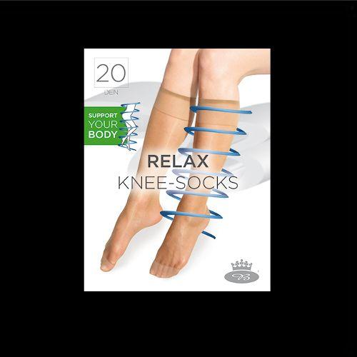 Podkolenky relaxknee-socks nero velikost uni - balení 1 pár, 1pár