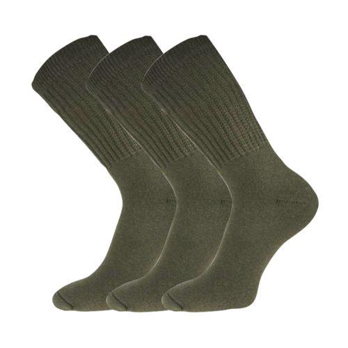 Ponožky 012-41-39 treking khaki velikost 25-26 (38-39), 3páry