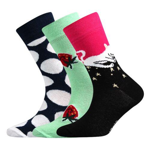 Ponožky 057-21-43 - v mix D - holka V velikost 23-25 (35-38), 3páry